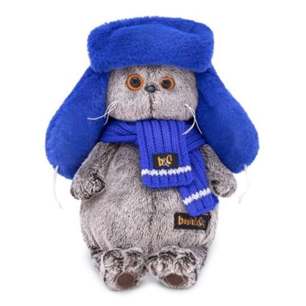 Мягкая игрушка Басик в меховой шапке, 22 см, Ks22-096 Budi Basa