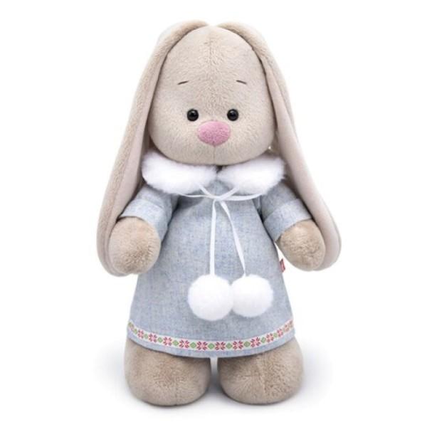 Мягкая игрушка Зайка Ми в трикотажном платье, 25 см, StS-301 Budi Basa