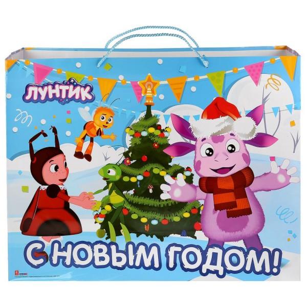 Пакет подарочный Лунтик С Новым Годом! CLRBG-LNTNY-05 Играем Вместе