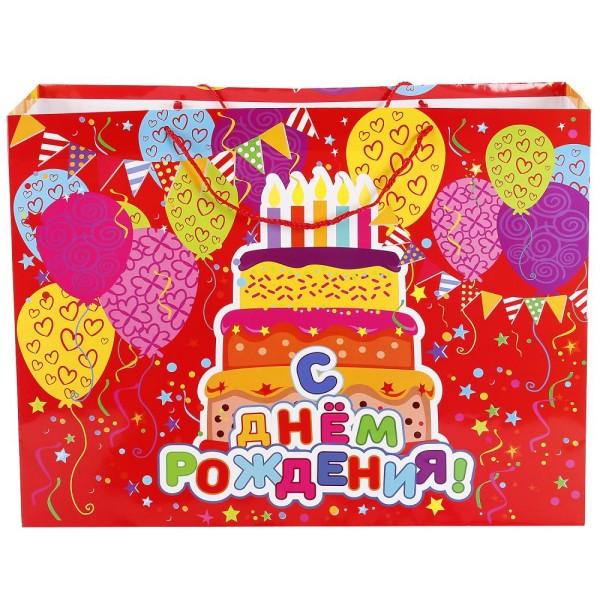 Пакет подарочный С Днем Рождения CLRBG-HB-05 Играем вместе