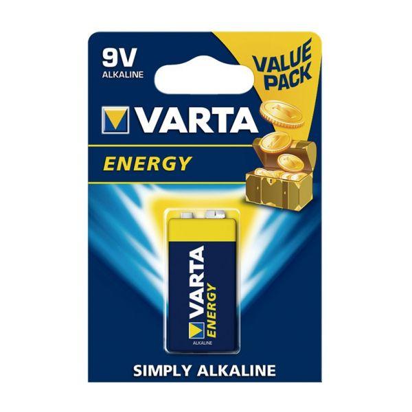 Батарейка щелочная VARTA 6LR61 (9B) Energy бл/1 4008496626656  VARTA