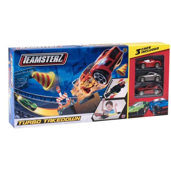 Игровой набор Teamsterz Трасса Turbo Takedown с 3 машинками 1416436.00 HTI