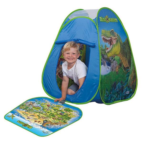 Раскладывающаяся палатка DINOSAURS с цветным игровым матом и фигурками 77072 John