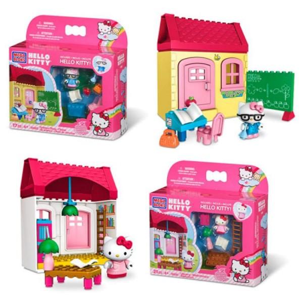 Конструктор Hello Kitty ученица 10890(10891,10892) Mega Bloks