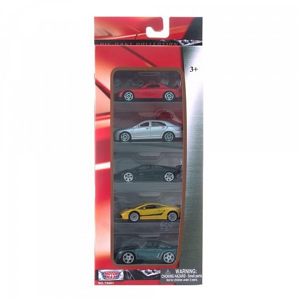 Набор моделей лицензионных машинок 75601 MOTORMAX