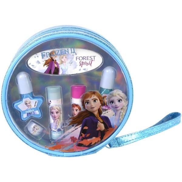 Игровой набор Frozen детской декоративной косметики для губ и ногтей в косметичке 1599007E Markwins