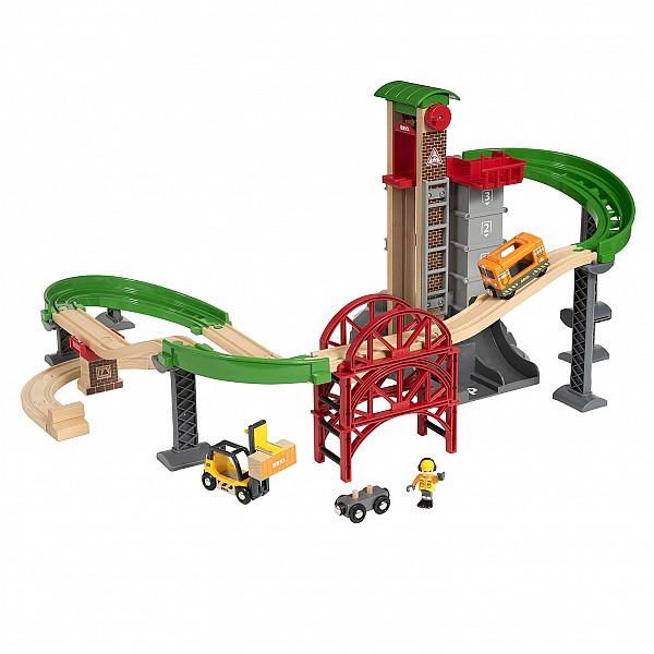 Игровой набор Ж/д Логистическая станция с лифтом, 33887 BRIO
