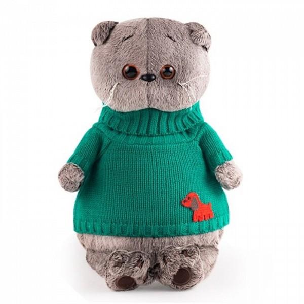Мягкая игрушка  Басик в зеленом свитере с собачкой Ks25-146 Budi Basa