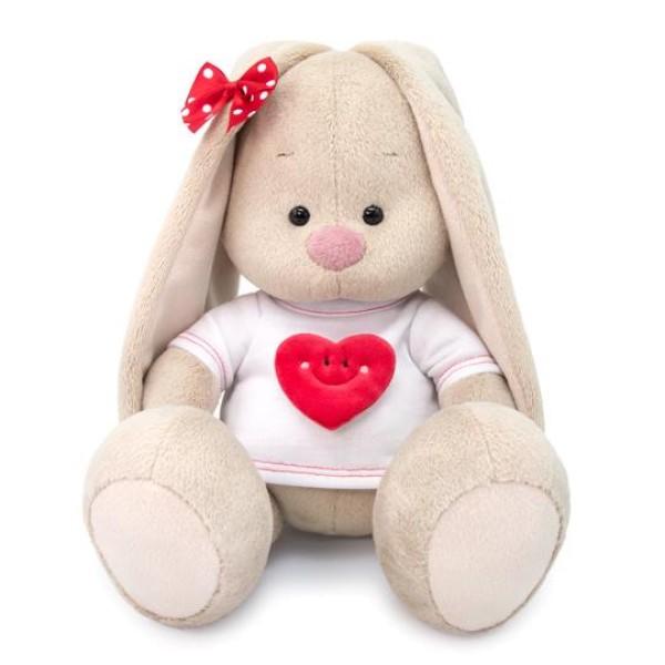 Мягкая игрушка  Зайка Ми в футболке с сердцем (малый) SidS-319 Budi Basa