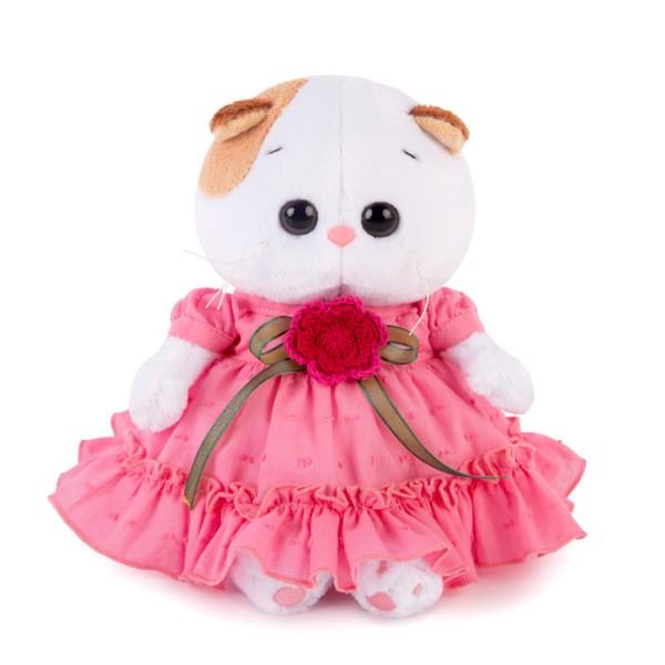 Мягкая игрушка Ли-Ли BABY в платье с вязаным цветочком LB-013 BUDI BASA