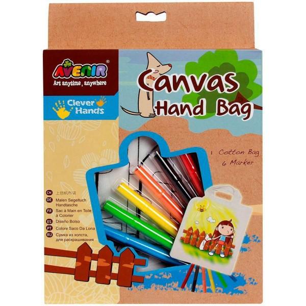 Набор для раскрашивания сумки из холста  AL2005 Avenir