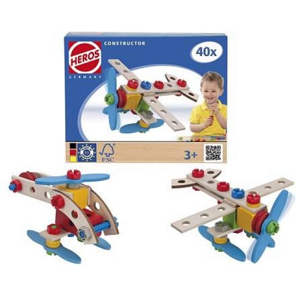 Конструктор Самолет 2 варианта сборки 40дет 39013 Heros