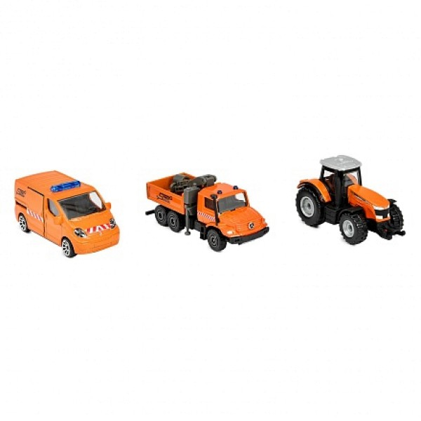 Средний игровой набор Городская техника, Ремонт, 3 машинки 7,5 см. 2057530-2 Majorette