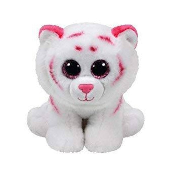 Мягкая игрушка Тигр Табор бело-розовый 90247 TY