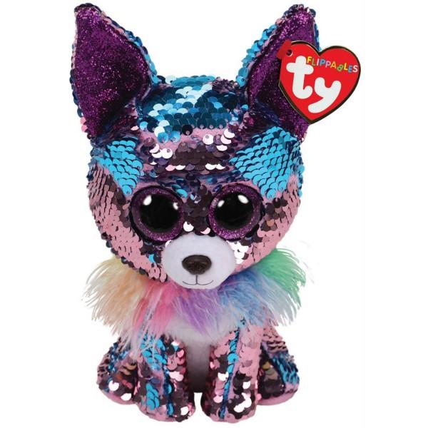 Мягкая игрушка Чармд чихуахуа розовыми с пайетками 36341 TY