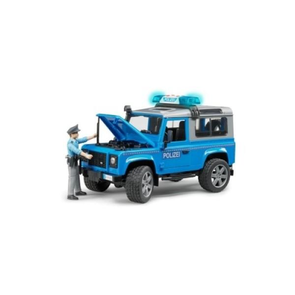 02-597 Bruder Внедорожник Land Rover Defender Station Wagon Полицейская с фигуркой