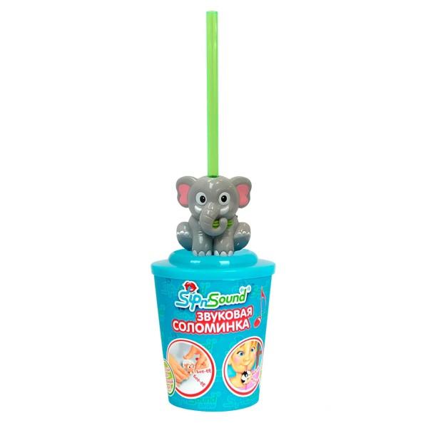 Звуковая соломинка слон 16003-1 Sip n'Sound