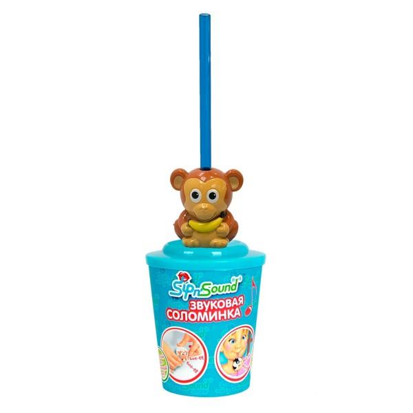 Звуковая соломинка обезьянка 16003-2 Sip'n Sound