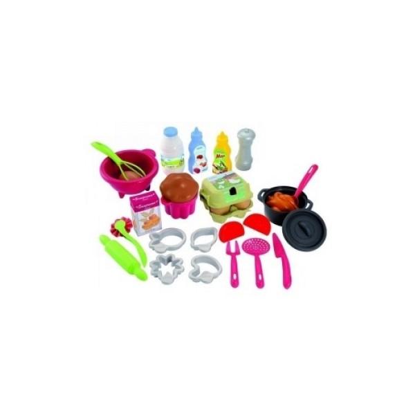 2617 Ecoiffier Набор посудки с продуктами