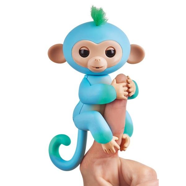 Интерактивная обезьянка Чарли голубая с зеленым 12 см WowWee 3723