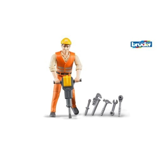 60-020 Bruder Фигурка строителя с аксессуарами