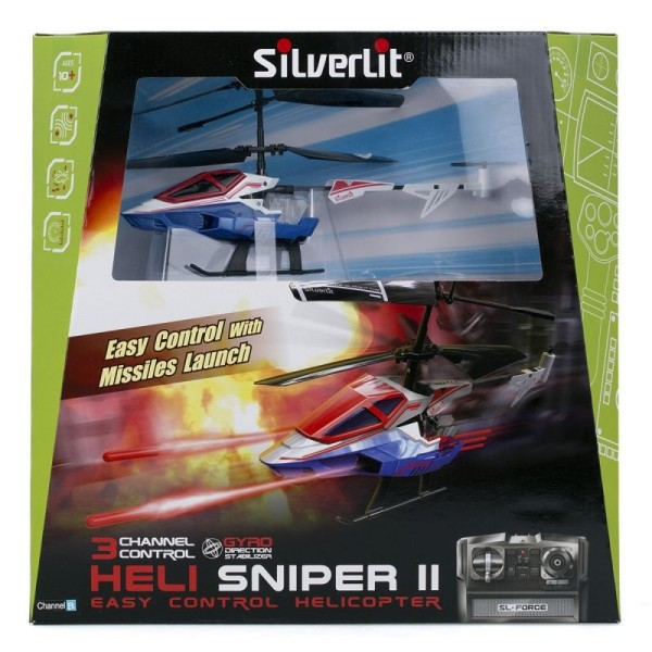 84781 Silverlit 3-х канальный вертолет Heli Sniper 2 со стрелами