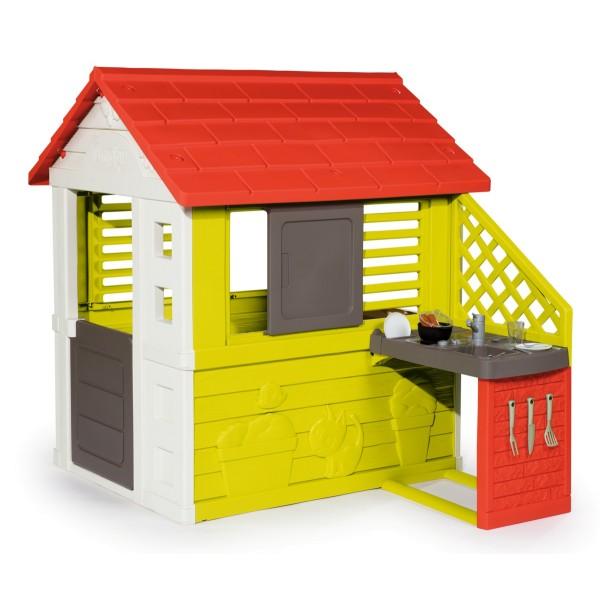 Игровой домик с кухней красный Smoby 810713