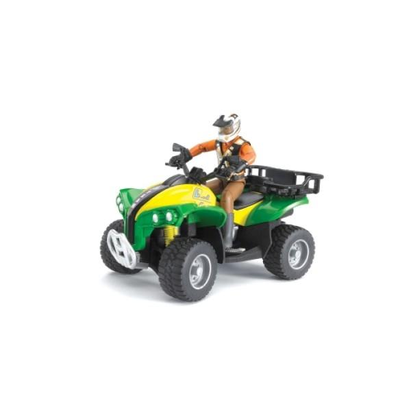 Квадроцикл с гонщиком, 63-000 Bruder