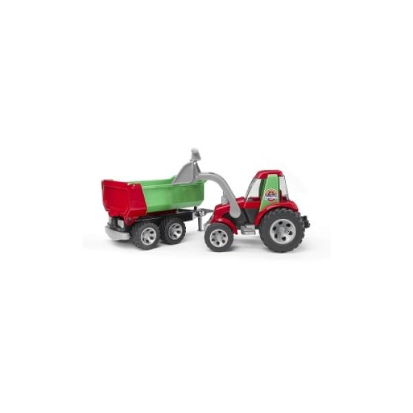 20-116 Bruder ROADMAX Трактор с ковшом и прицепом
