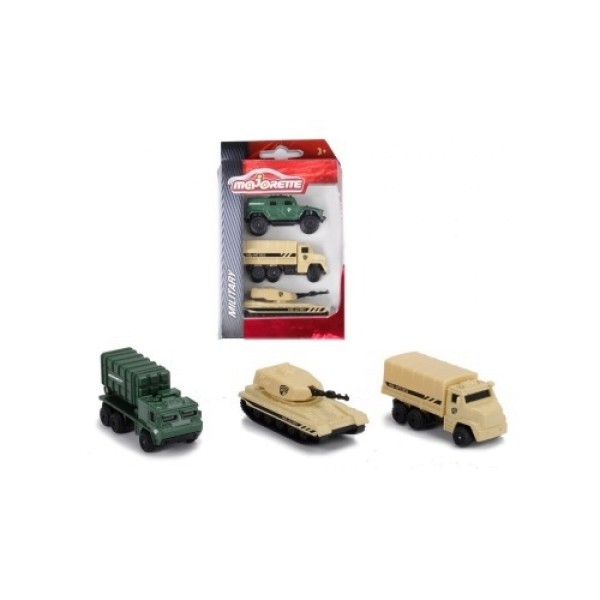 2053134 Majorette Набор военных машинок