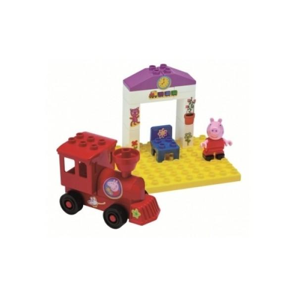 57072 BIG Конструктор поезд с остановкой Peppa Pig
