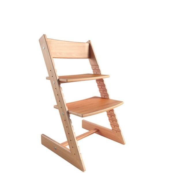 Детский растущий стул из бука Конёк Горбунёк (Цвет каркаса:Светлый бук)