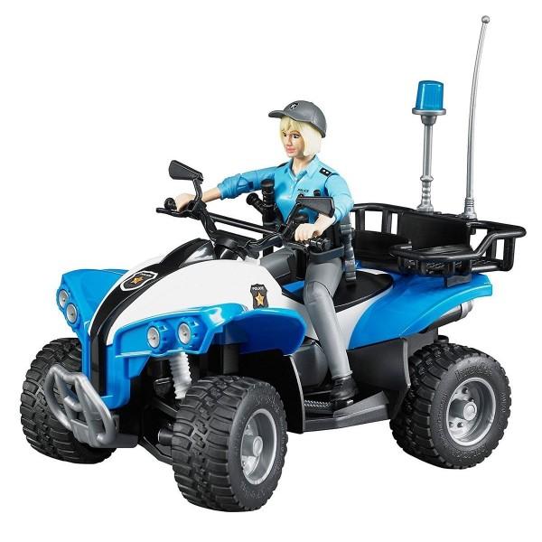 63-010 Bruder Полицейский квадроцикл с фигуркой