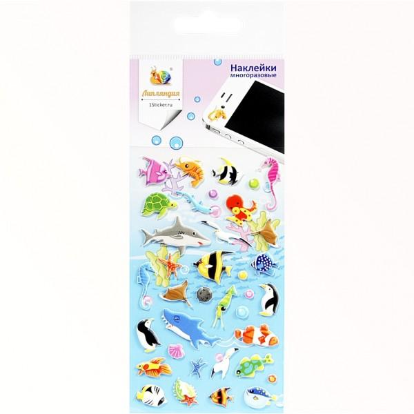 ЛИПЛЯНДИЯ 4943m Набор наклеек Подводный мир